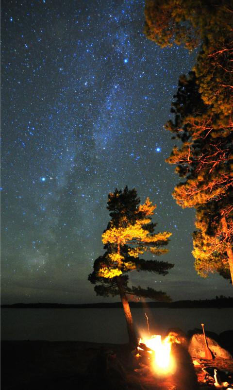 night sky clearwater lake