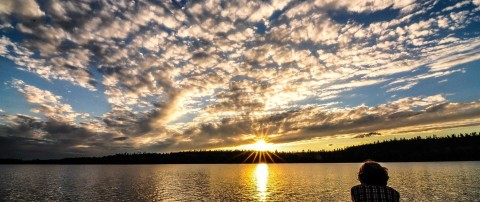 clearwater lake sunset altocumulus clouds