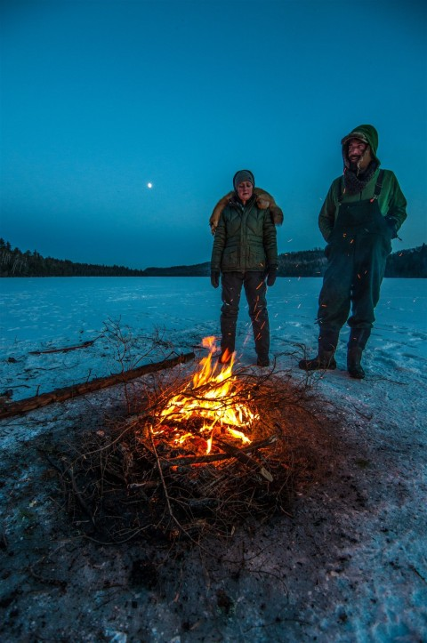 clearwater bwca winter fire