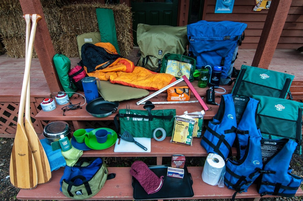 clearwater complete canoe outfitting package with food and gear