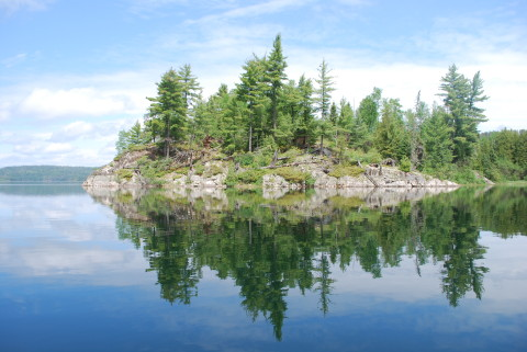 clearwater lake reflection