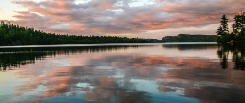 clearwater lodge lake pink clouds