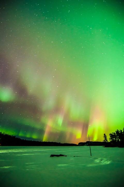 aurora borealis clearwater lake