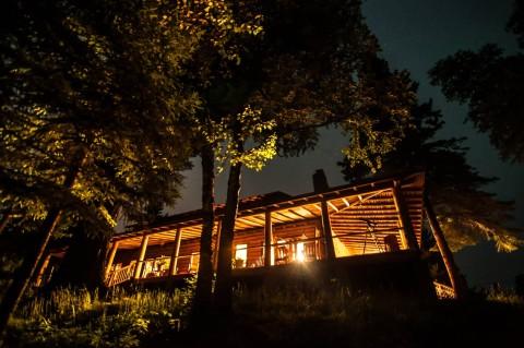 clearwater lodge nighttime minnesota