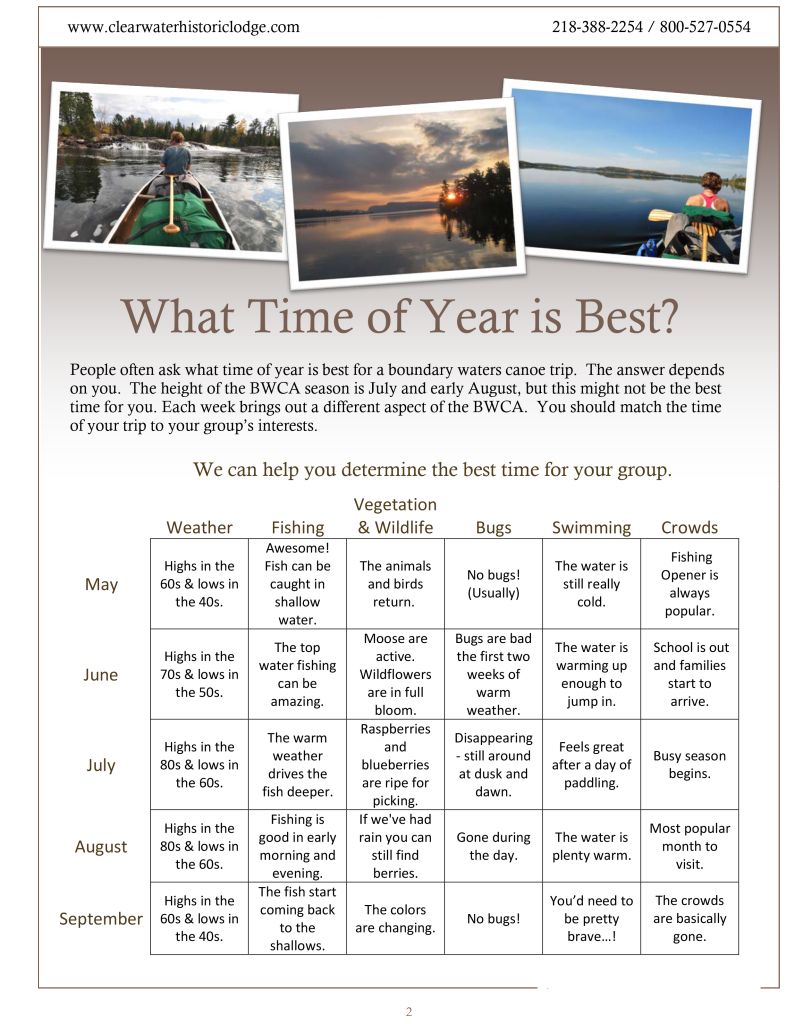Planning Guide Time of Year