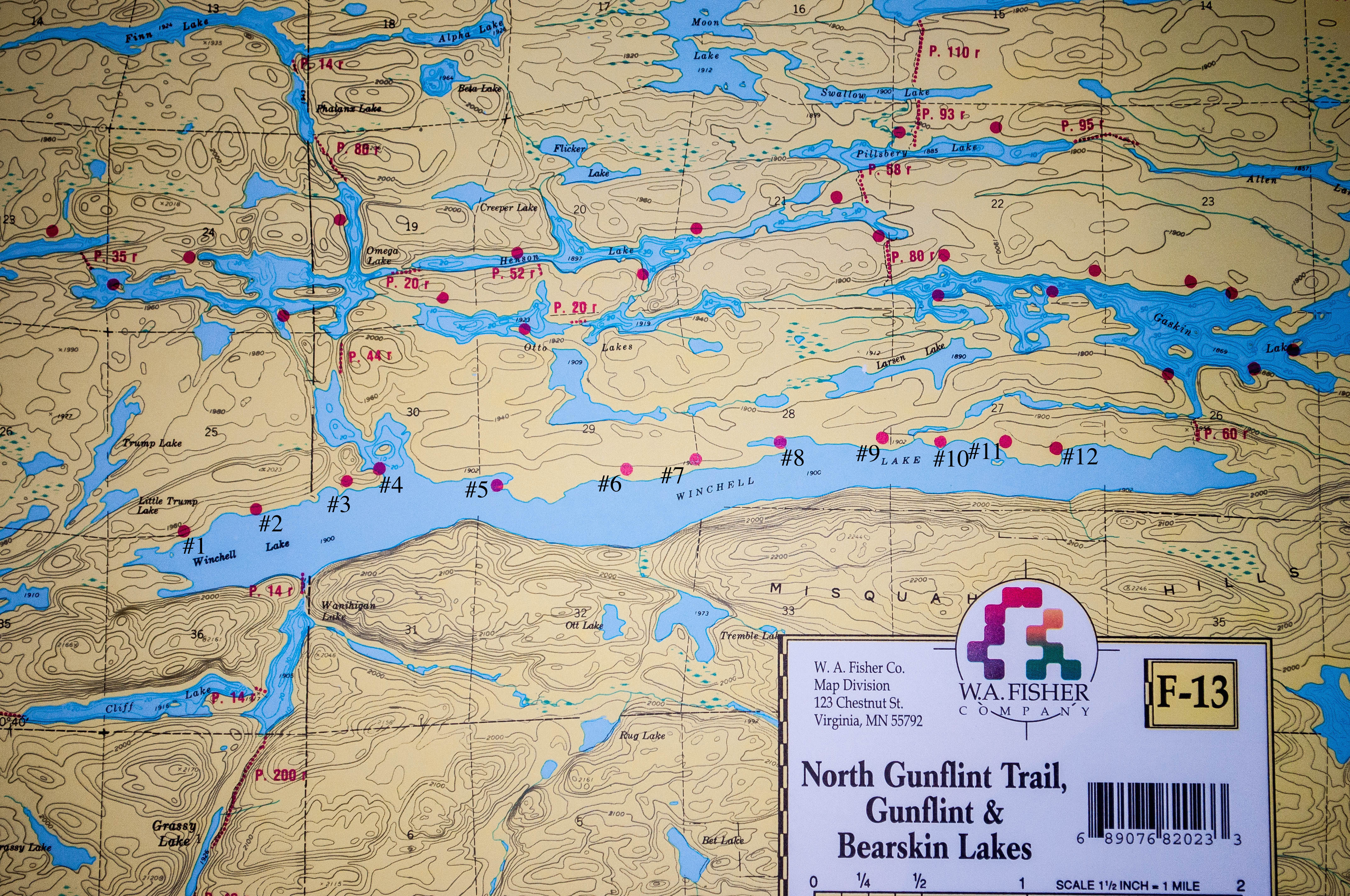 Winchell Lake Clearwater Historic Lodge - Bwca entry point map