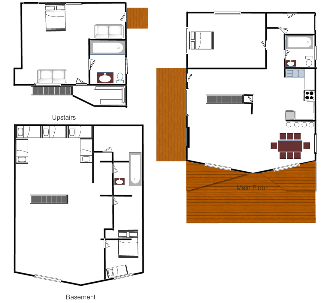 Cabin floor plans authentic log cabins clearwater for Log lodges floor plans