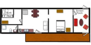 Cabin 2 Floor Plan