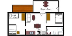 Cabin 3 Floor Plan