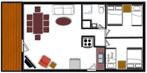 Cabin 4 Floor Plan