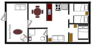 Cabin 5 Floor Plan