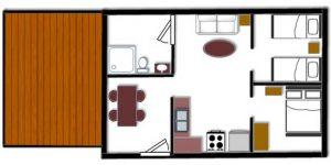 Cabin 6 Floor Plan