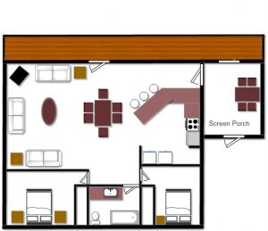Cabin 7 Floor Plan
