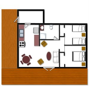 Cabin 9 Floor Plan
