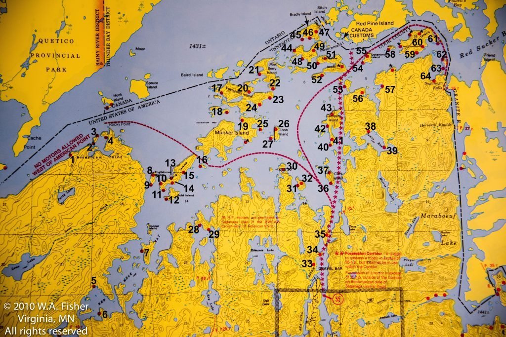 Saganaga Lake Campsites BWCA Campsite Reviews Clearwater Lodge - Bwca entry point map